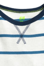 Long-sleeved T-shirt - White/Blue striped -  | H&M CN 3