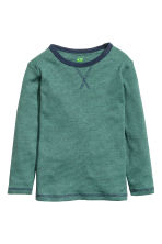 Long-sleeved T-shirt - Green/Narrow striped -  | H&M CN 2