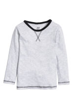 Long-sleeved T-shirt - Grey/Narrow striped - Kids | H&M CN 2