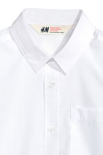 Easy-iron shirt  - White -  | H&M CN 3