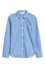 Easy-iron shirt  - Blue/Checked -  | H&M CN 2