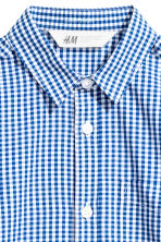 Easy-iron shirt  - Blue/Checked -  | H&M CN 3