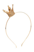 Alice band with a crown - Gold - Kids | H&M 1