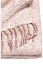 Herringbone-patterned blanket - Dusky pink - Home All | H&M CA 2