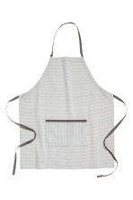 Textured apron - Light grey/Patterned - Home All | H&M CN 1