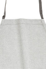 Textured apron - Light grey/Patterned - Home All | H&M CN 2