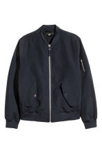 Padded bomber jacket - Dark blue - Men | H&M 2