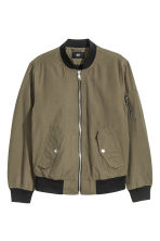 Padded bomber jacket - Khaki green - Men | H&M 2