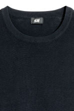Fine-knit cotton jumper - Dark blue - Men | H&M CN 3