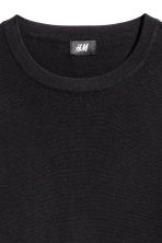Fine-knit cotton jumper - Black - Men | H&M 4
