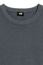 Fine-knit cotton jumper - Blue-grey - Men | H&M CN 3