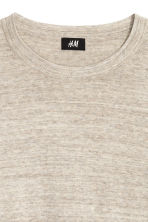 Fine-knit cotton jumper - Beige marl - Men | H&M CN 3