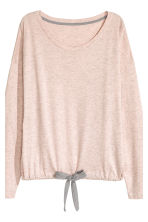 Pyjamas with top and shorts - Pink marl - Ladies | H&M CN 4