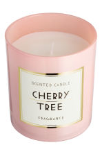 Scented candle in glass holder - Light pink/Cherry tree - Home All | H&M CA 3