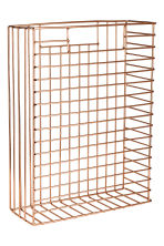 Metal magazine rack - Copper - Home All | H&M GB 1