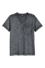 不收邊T恤 - Anthracite/Grey marl - Men | H&M 2