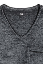 不收邊T恤 - Anthracite/Grey marl - Men | H&M 3