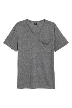 T-shirt with raw edges - Dark grey marl - Men | H&M CN 2