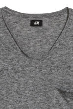 T-shirt with raw edges - Dark grey marl - Men | H&M 3