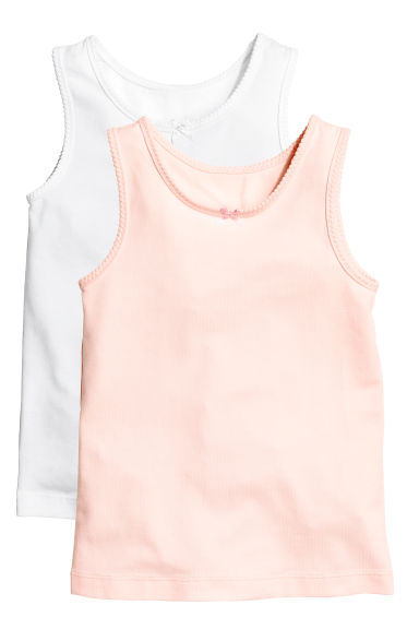 2-pack vest tops - Powder pink - Kids | H&M CN 1