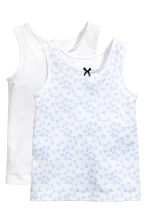 2-pack vest tops - White/Butterflies - Kids | H&M 2