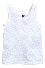 2-pack vest tops - White/Butterflies - Kids | H&M CN 3