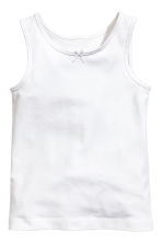 2-pack vest tops - White/Butterflies - Kids | H&M CN 1