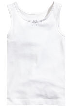 2-pack vest tops - White/Butterflies - Kids | H&M CN 4