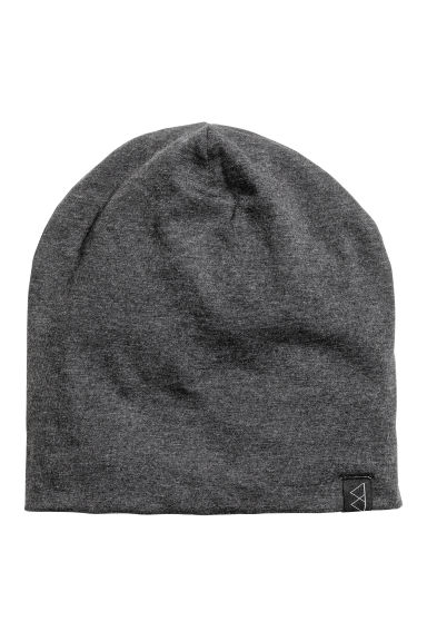 Jersey hat - Dark grey marl - Men | H&M