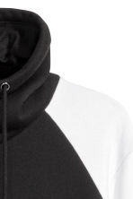 Funnel-collar sweatshirt - Black/White - Men | H&M 3