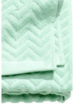 Jacquard-patterned bath towel - Mint green - Home All | H&M CN 3