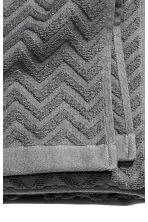 Jacquard-patterned bath towel - Dark grey - Home All | H&M CA 2