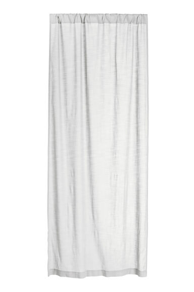 Slub-textured curtain length - Light grey -  | H&M CN