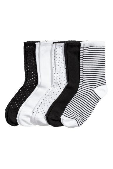 5-pack socks - White/Spotted - Ladies | H&M