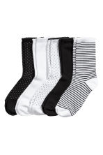 5-pack socks - White/Spotted - Ladies | H&M 1