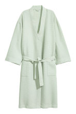 Waffled dressing gown - Mint green - Home All | H&M CN 1