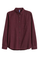 Twill shirt - Dark plum - Men | H&M 2