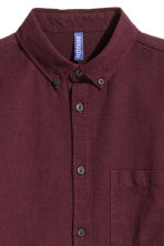 Twill shirt - Dark plum - Men | H&M 3