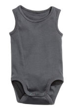 3-pack sleeveless bodysuits - Dark grey - Kids | H&M CN 2