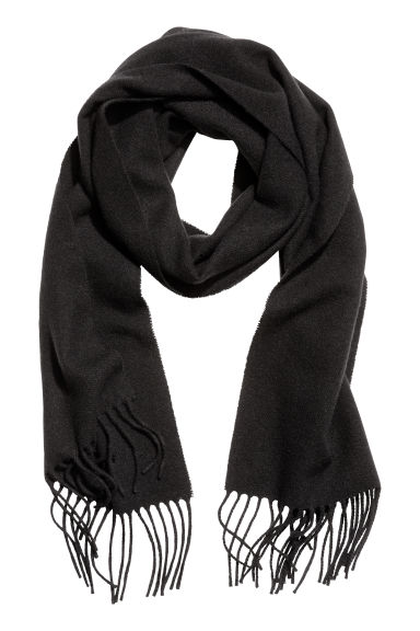 Wool scarf - Black -  | H&M