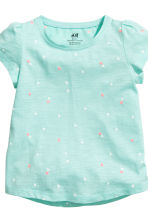 2-pack jersey tops - Mint green/Heart - Kids | H&M 4