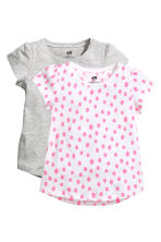 2-pack jersey tops - White/Spotted - Kids | H&M 2