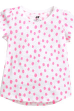 2-pack jersey tops - White/Spotted - Kids | H&M CA 4