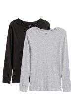 2-pack ribbed T-shirts - null -  | H&M CN 2