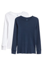 T-shirt a costine, 2 pz - Bianco -  | H&M IT 2