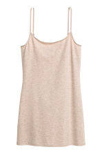 Long jersey strappy top - Beige - Ladies | H&M CN 2