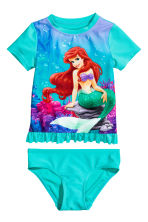 Swim set with UPF 50 - Turquoise/The Little Mermaid - Kids | H&M CN 1
