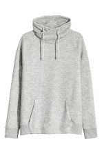 Funnel-collar sweatshirt - Grey marl - Men | H&M CN 2