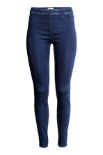 Superstretch-tregging - Donker denimblauw - DAMES | H&M NL 3