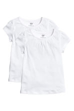 2-pack jersey tops - White -  | H&M 2